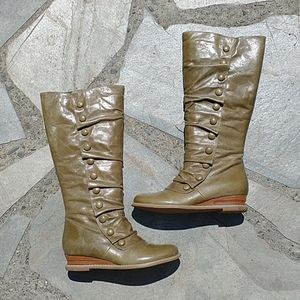 Miz Mooz Bloom Olive Wide Calf Boots